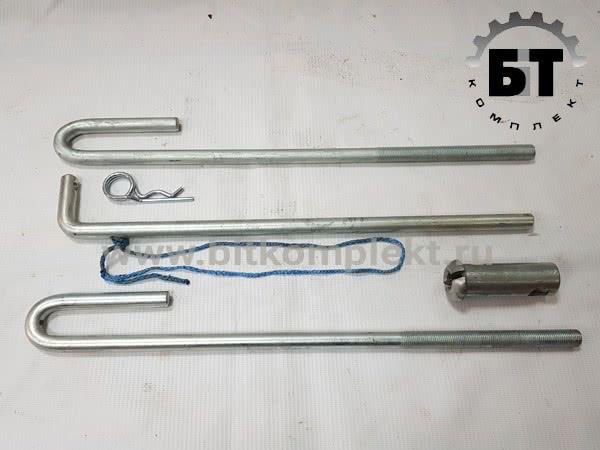 Комплект крепления запасного колеса аналог Schmitz 280540. Арт.: AS 31.0001. Запчасти МАЗ от Бит комплект.